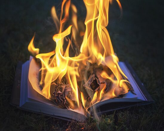 bible, fire, book