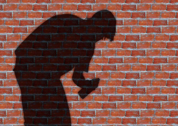 graffiti, man, wall