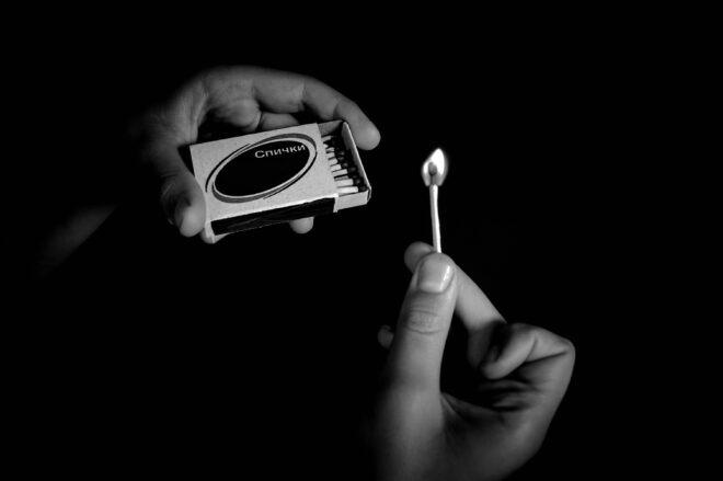 matches, hands, fire
